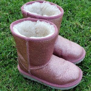 Little Girls Glitter Ugg Boots